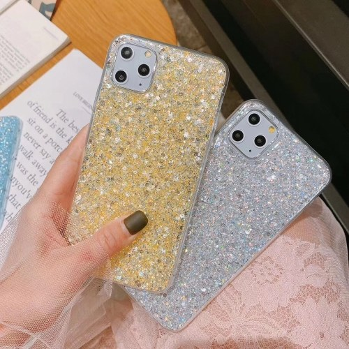 Suitable for iphone11pro mobile phone shell small fresh glitter powder epoxy Apple XSMAX new 8plus protective sleeve 7 blue iphone7plus / 8plus