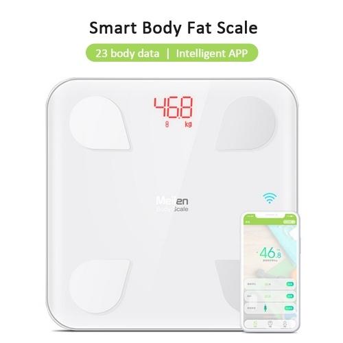 Balance de graisse corporelle intelligente BT poids balances électroniques domestiques de haute précision analyse de données d'application de santé numérique 23 moniteur d'analyseur de composition corporelle