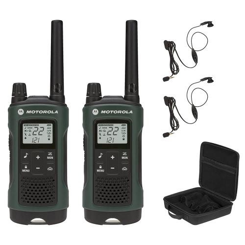 Motorola T465 RECARREGÁVEL RADIO DE RADIO 2WAY COM CAIXA DE CAIXA