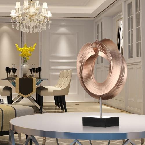 Купить Tomfeel Giro De Fibra De Vidrio Escultura Decoración Del Hogar Original Del Diseño Del Círculo Elegante