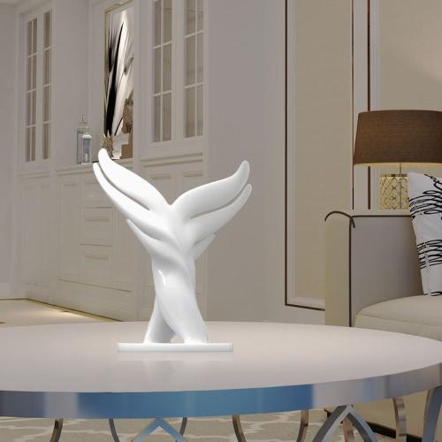 Tomfeel 3D Impreso Escultura Ballena Cola Originalmente Diseñado Decoración Del Hogar Ornamento de equipamiento