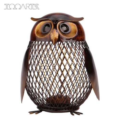 Tooarts Owl Piggy Bank Coin Bank Practical Sculp Home Decor