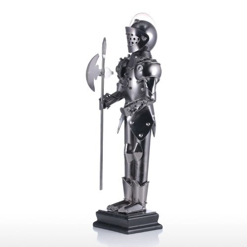 Warrior Tooarts Home Decoration Handicraft Metal Sculpture Modern Sculpture Middle Ages Crafts Artwork Gift