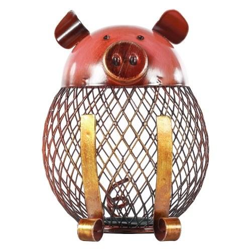 Piggy Bank Children Toy Bank Iron Coin Holder Boy Girls Coin Money Cash Saving Box for Decoration or Gift
