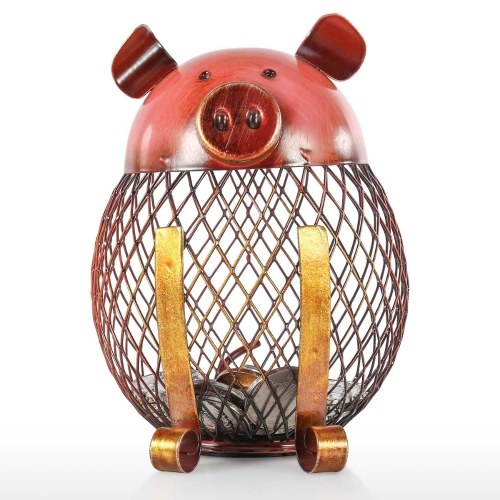 Piggy Bank Children Toy Bank Iron Coin Holder Boy Girls Coin Money Cash Saving Box for Decoration or Gift