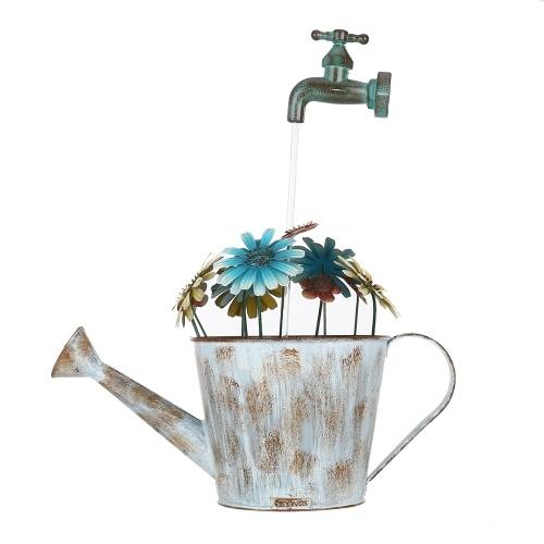 Tooarts Outdoor Iron Fountain Flower Pot