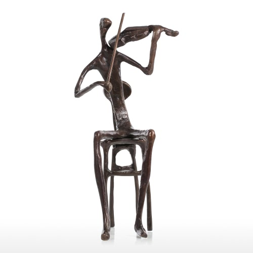 Violin playing Modern Performance Bronze Sculpture Metal Sculpture Home Decor Art Gift