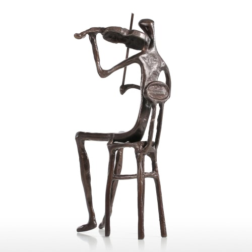 Купить Violine Spielen Moderne Performance Bronze Skulptur Metall Skulptur Home Decor Kunst Geschenk