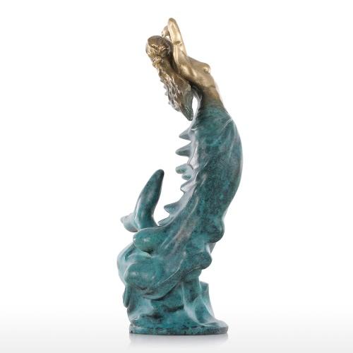 Купить Tomfeel Meerjungfrau Bronze Modernes Design Ozean Göttin Weibliche Statue