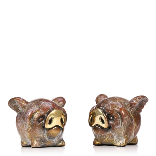 A Pair of Flying Pigs Bronze Pig with Wings Figurine Lovely Little Flying Pig Statue Table Top Decor
