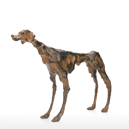 Tooarts| Art Decor Tribute to Giacometti Collection Iron Casting Dog Sculpture Loneliness Meaning Exquisite Handcraft Ideal Art Decor for Home and Office Modern Art Figurine Figurine Festival Gift