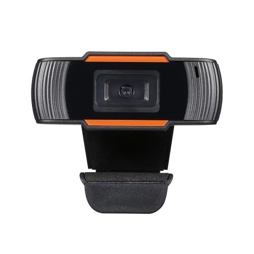 Webcam USB 480P a fuoco fisso con microfono fonoassorbente per la riduzione del rumore per lo streaming live delle videochiamate della conferenza online