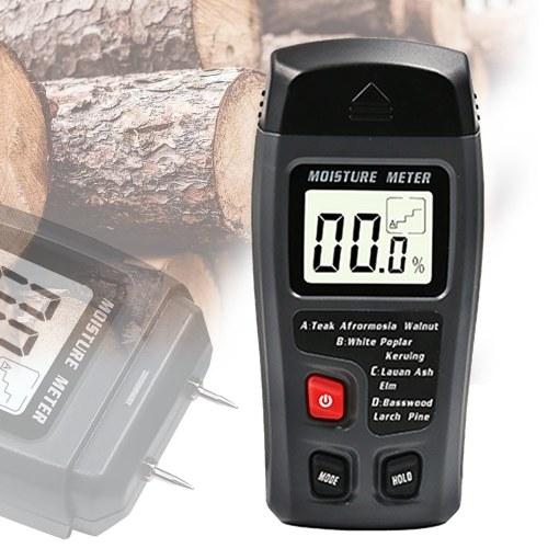 Wood Moisture Tester Moisture Meter Wood Floor Carton Moisture Meter Moisture Meter Moisture Meter Black Moisture Meter-Without Battery фото
