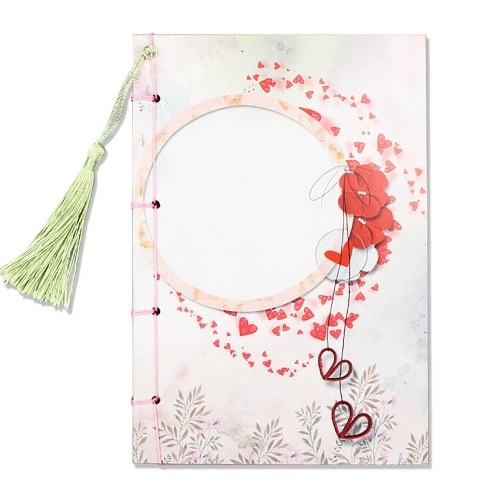 8.1 * 5.6in Portable Notebook 70 feuilles de papier Kraft vierge Style chinois point Journal Journal bloc-notes