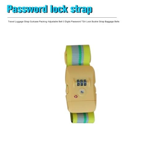 Travel Luggage Strap/ Suitcase Packing Adjustable Belt/ 3 Digits Password TSA Lock Buckle Strap/ Baggage Belts