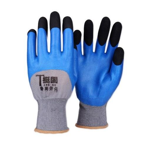 Защитные перчатки Dipped Labour Breathable Усиливают палец Износостойкие нескользящие лейбористые перчатки Пенка от морщин