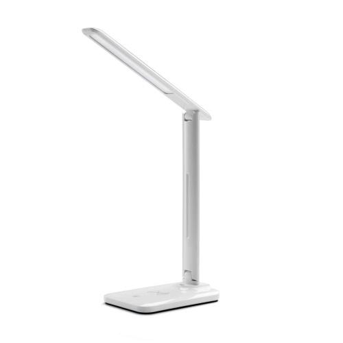 Lâmpada de mesa LED Lâmpada de escritório regulável 5W Qi carregador sem fio