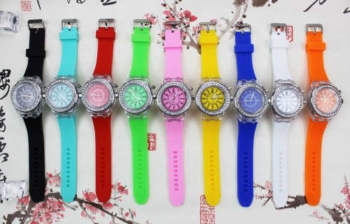 Factory direct silicone luminous watch