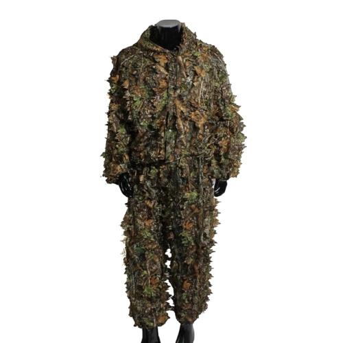 Roupa do atirador furtivo da tática dos homens 3D de pouco peso terno da folha de Ghillie da camuflagem