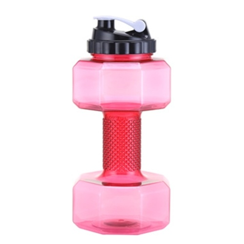 New creative sports bottle plastic dumbbell cup