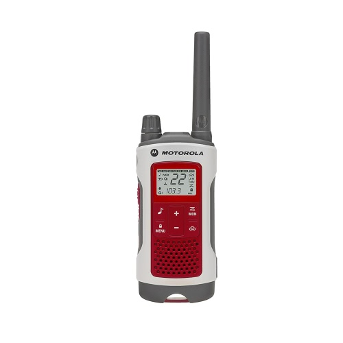 Motorola T480 RECHARGEABLE RADIO 2 VOIES BLANC / ROUGE RADIO SIMPLE AVEC STAND