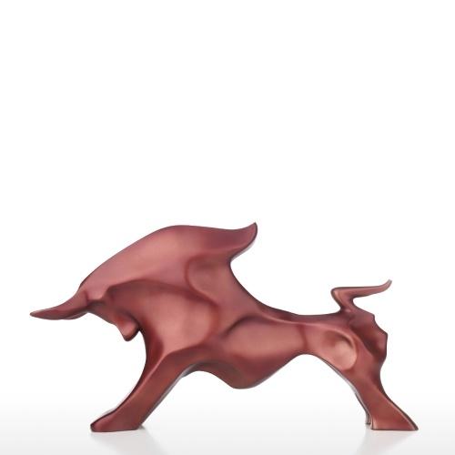 Abstrait Taureau Statue Figurine Animale Décor En Résine Artisanat Mode Bureau Ornement Bureau Décor À La Maison