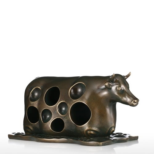 Cattle in the Water Tomfeel Fiberglass Sculpture Home Decoration Original Design Ox Cow Abstract