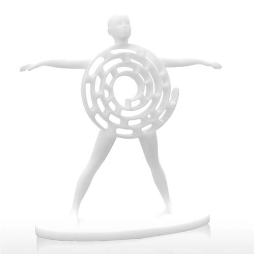 Tomfeel 3D Escultura Impresa Hombre Vitruvian Originalmente Diseñado Decoración para el Hogar