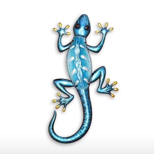 Bleu Gecko Tenture Murale Animal Art Lézard Intérieur Extérieur Décor Chambre Salon Décoration