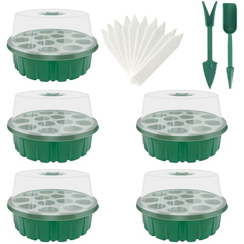 Garden Propagator Set Mini Greenhouse Seedling Propagation Kit