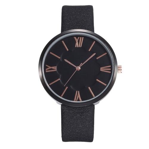 Reloj con banda de cuero de