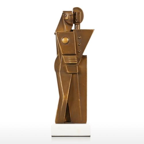 Hug Abstract Statue Eternal Love Hug Statue Embrace Modern Art Home Office Bookshelf Desktop Decor Bronze-colored