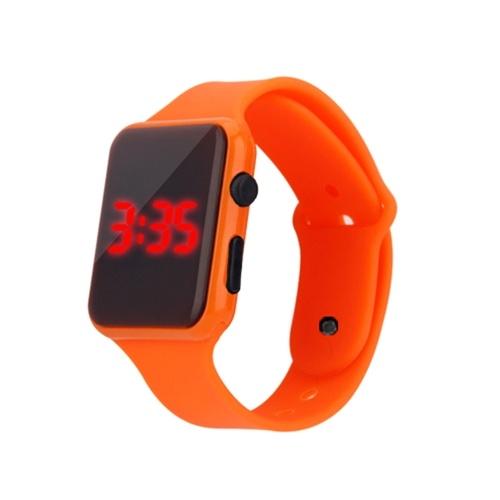 Student Fashion Rectangle Watch Intelligent Electronic LED Watch