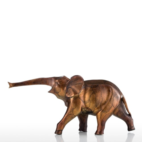 Or minuscule Sculpture Elephant Bronze Cuivre Décoration Elephant animal