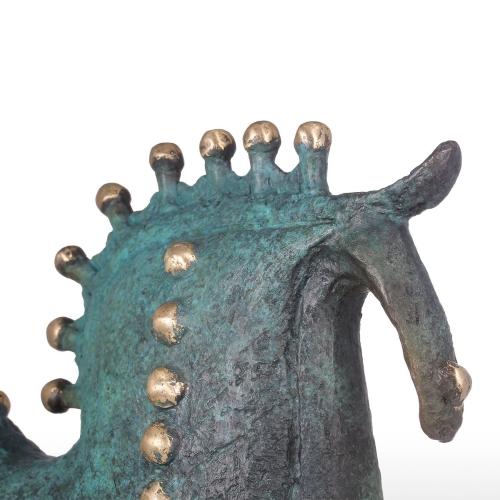 Exaggerative Pferd Bronze Skulptur Abstrakt Design Dekorationen Moderne Kunst Tier Skulptur Pferd