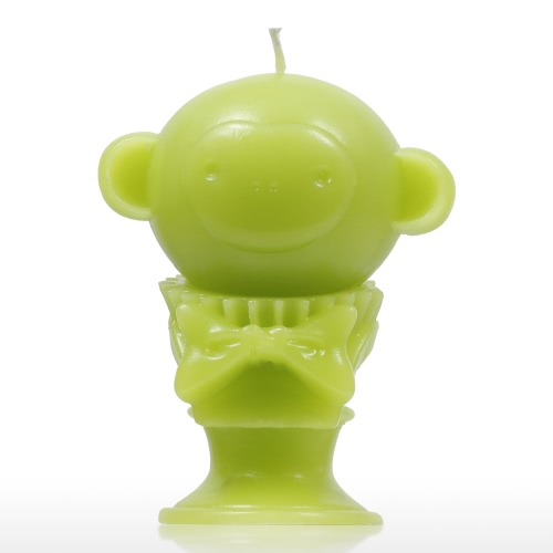 Tomfeel Vela Perfumada - Green Monkey Decorative Aromatherapy Wax Algodón Natural Mecha