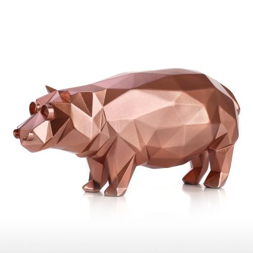Rzeźba nowoczesna rzeźba Hippo Rzeźba Streszczenie Rzeźba Figurka zwierzęca