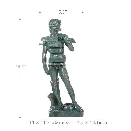 Купить Tomfeel David Con La Escultura Del Cajón Hogar De La Resina De La Decoración Del Arte Moderno Estatuilla