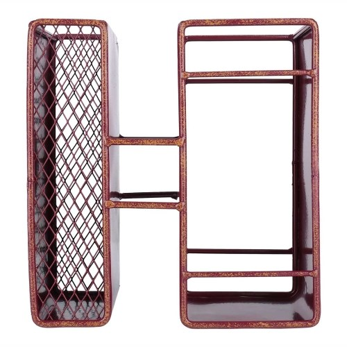 Tooarts Letter-H Wine Rack Tabletop Decorative Wine Rack Sturdy Iron Material Display and Store Rack Home Decor Letter H O M E