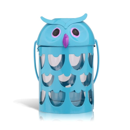 Tooarts Owl candle holder(blue) Hurricane lamp Practical ornament Creative ornament  Home Furnishing Articles