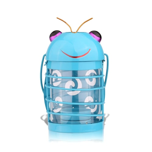 Tooarts beetle candle holder(blue) Hurricane lamp Practical ornament Creative ornament  Home Furnishing Articles