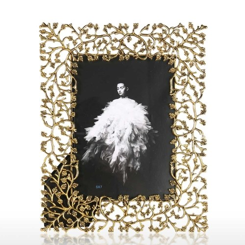 Cadre photo en alliage d'aluminium Cadre photo en métal Cadre photo décoratif pour table Cadre en verre transparent