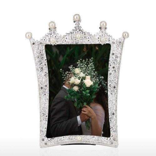 Фоторамка Tooarts из алюминиевого материала с мозаикой алмазная и жемчужная ручной работы декоративная фоторамка