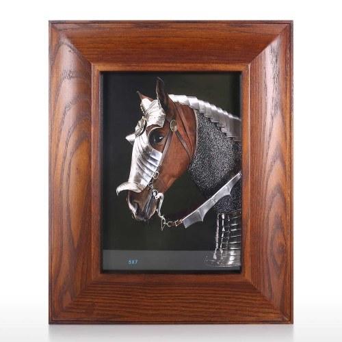Cadre photo en bois brun foncé Rustique Cadre photo en bois Affichage de table Décoration de bureau à domicile Décoration 5x7