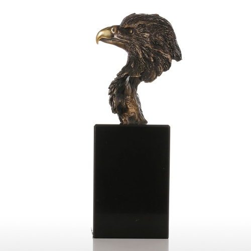 Marble Base Eagle Hawk Handmade Bronze Sculpture Modern Art Home Decor