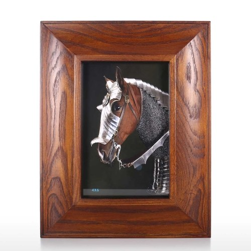 Dark Brown Wood Picture Frame Rustic Wooden Photo Frame Tabletop Display Home Office Decoration 4x6