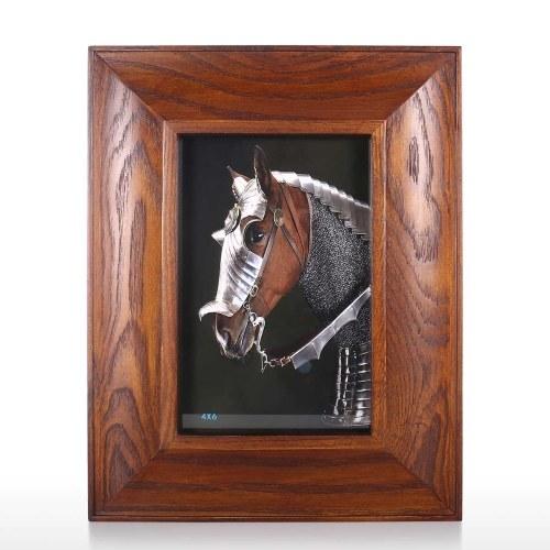 Cadre photo en bois brun foncé Rustique Cadre photo en bois Affichage de table Décoration de bureau à domicile Décoration 4x6