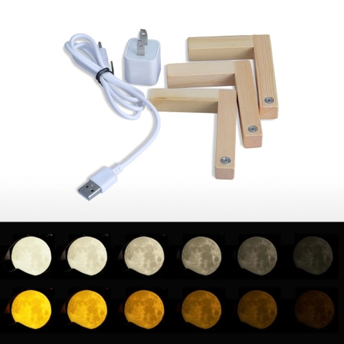 Creative Moon Lamp Tooarts moon shape and light helps to relax and sleep, TOMTOP  - buy with discount