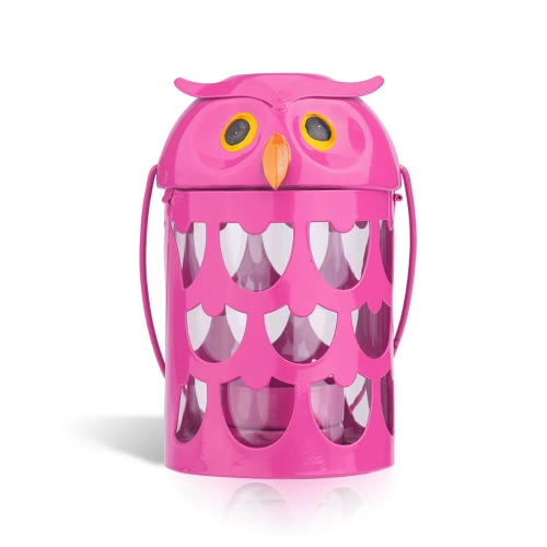 Tooarts Owl candle holder(pink) Hurricane lamp Practical ornament Creative ornament  Home Furnishing Articles