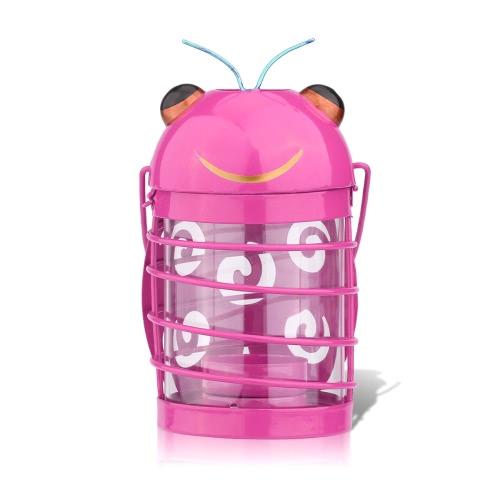 Жук держатель свечи (розовый) Hurricane лампа Практическая украшение Творческий орнамент Главная Мебель Статьи